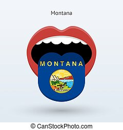 Electoral vote of Montana. Abstract mouth. Vector...