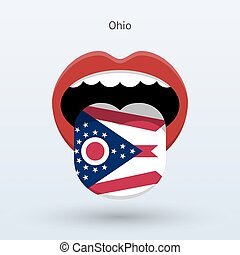 Electoral vote of Ohio. Abstract mouth. Vector illustration.