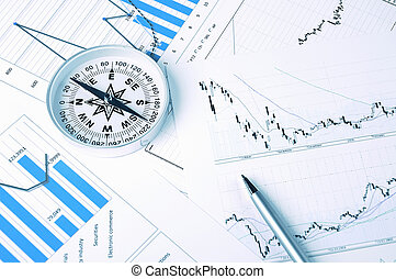 Graphs and charts Workplace businessman
