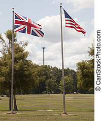 British and American Flags - British and American flags...