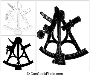Sextant Vector 01.eps - Sextant Isolated Illustration Vector