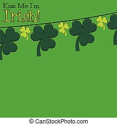 Hand drawn shamrock St Patrick's Day card in vector format.