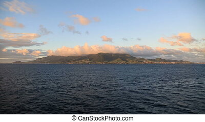 two shots of the island St.Kitts