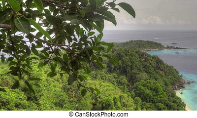 Similan Islands seascape, aerial view - Lagoon of Ko Miang...