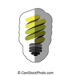 green sticker eco bulb icon