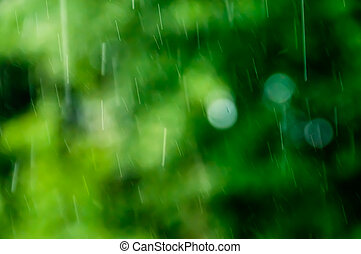 Raindrops as detail. They are recognizable as lines. The...
