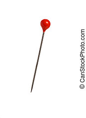 pin with a red head - a single pin with a red head on a...