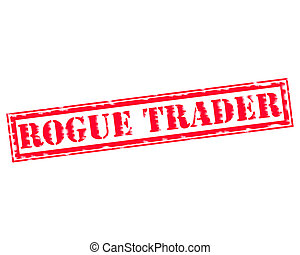 ROGUE TRADER RED Stamp Text on white backgroud