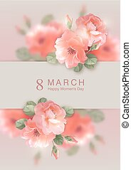 Card with Vector Flowers