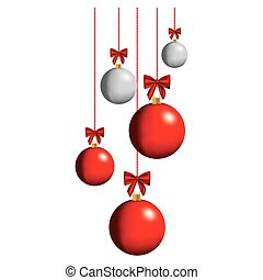 color christmas balls hanging icon