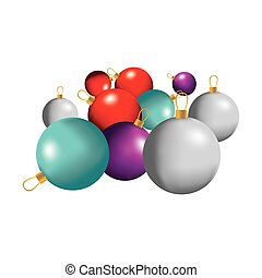 color christmas balls icon