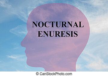 Nocturnal Enuresis concept - Render illustration of...
