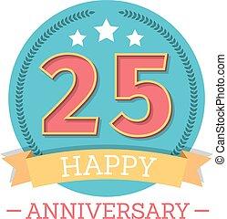 25 Years Anniversary Emblem - 25 Years anniversary emblem...