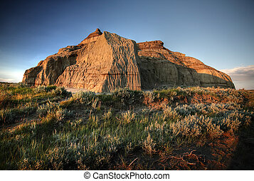 Castle Butte in Big Muddy Valley in Southern Saskatchewan