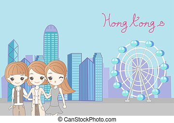 women travel to hongkong