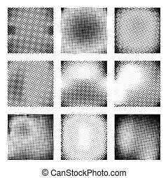Set of  halftone  texture