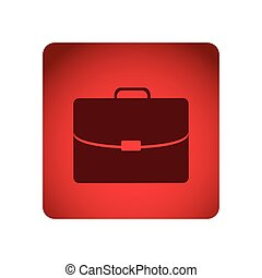 red square frame briefcase executive icon