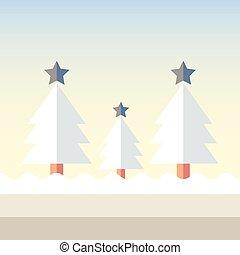 Christmas tree snow