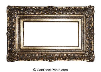 Old gilded picture frame