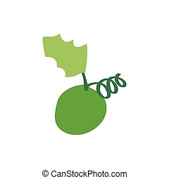 Christmas grape icon green