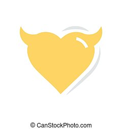 Heart of Devil love flat icon