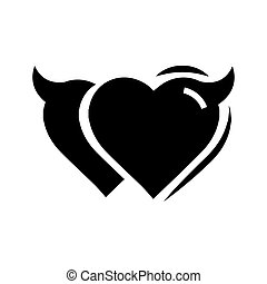 Twins Heart of Devil love black color