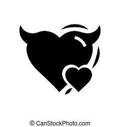 Heart Mini of Devil love black color