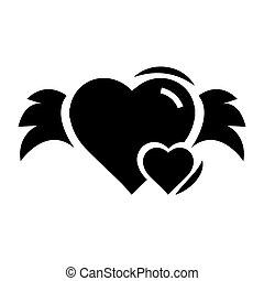 Hearts mini with wings black color