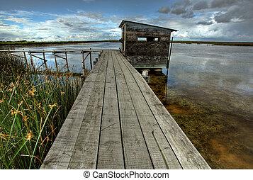 panorâmico, vista, Saskatchewan, pântanos