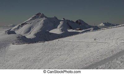 Ski slopes on the southern slope Aibga Ridge of Western...