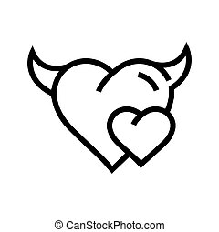 Devil mini Heart icon