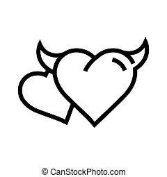 two Devil Heart icon
