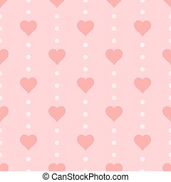 Seamless heart pattern, vector illustration