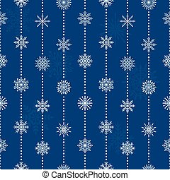 Seamless pattern with snowflakes, vector illustration