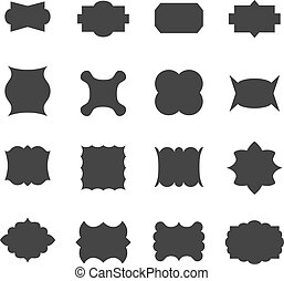 Set of frames, vector illustration