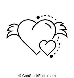 Vector Icon Hearts wings