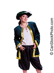 Woman in pirate costume. - Woman wearing fancy dress on...