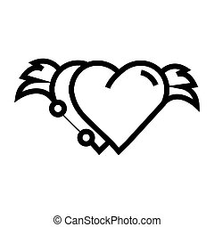 Two Hearts wings pen tool design