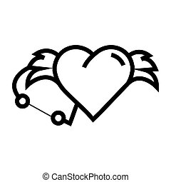 Love Hearts wings pen tool design