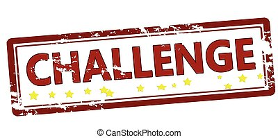 Challenge - Stamp with word challenge inside, vector...