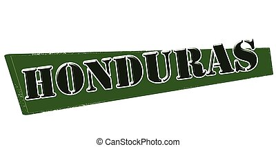 Honduras - Stamp with word Honduras inside, vector...