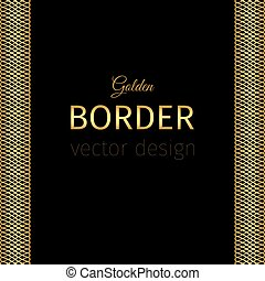 Golden border with guilloches