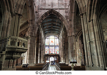 Coventry in West Midlands, England. Interior of medieval...