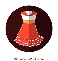 Typical spanish costume icon