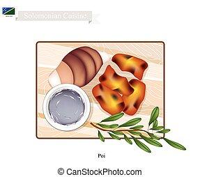 Poi or Traditional Solomonian Soup or Solomonian Porridge -...