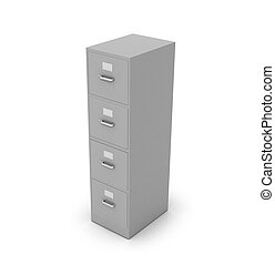 Bedside table for documents on a white background. 3D...