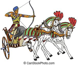 egyptian chariot - ancient Egypt two-wheeled chariot pulled...