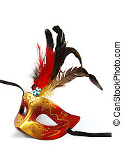 Mask - A feathered mask isolated on a white background