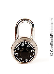 Closed Combination Lock - A closed silver combination lock...