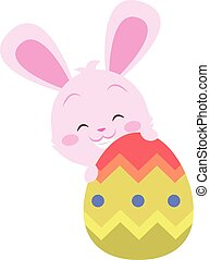 Cute bunny with easter egg design